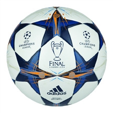 Adidas Finale Lisbon Official Champions League Match Soccer Ball (White/Tribe Blue/Solar Blue)