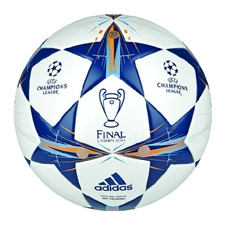 Adidas Finale Lisbon Top Training Soccer Ball (White/Tribe Blue/Solar Blue)
