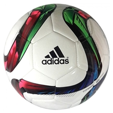 Adidas Conext 15 Glider Soccer Ball (White/Night Flash/Flash Green/Black)
