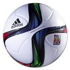 Adidas Conext15 WWC 2015 Official Match Soccer Ball (White/Night Flash/Flash Green)