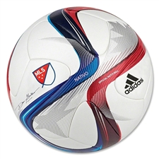 Adidas MLS Nativo 2015 Official Match Ball (White/Power Red/Solar Blue) |M36940| FREE SHIPPING