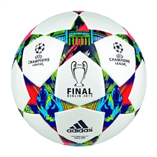 Adidas Finale Berlin 2015 Sala 5x5 Futsal Soccer Ball (White/Solar Blue/Flash Green)
