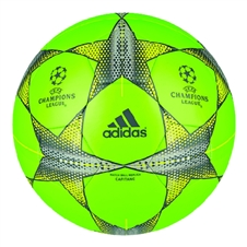 AdidAdidas Finale 2015 Capitano Soccer Ball (Solar Green/Solar Yellow/Granite)
