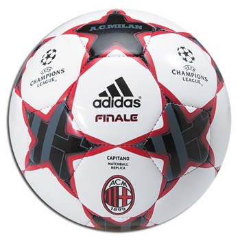 Adidas Finale 10 Capitano AC Milan Soccer Ball (ACM Red/Black/White)