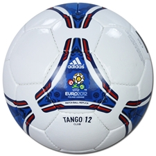 Adidas Euro 2012 Tango 12 Club Soccer Ball (White/Power Blue)