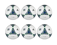 Adidas 2013 Competition Ball - 6 Pack (White/Blue/Green)