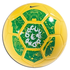 Nike Brasil Supporter '10 Soccer Ball (Yellow/Green)