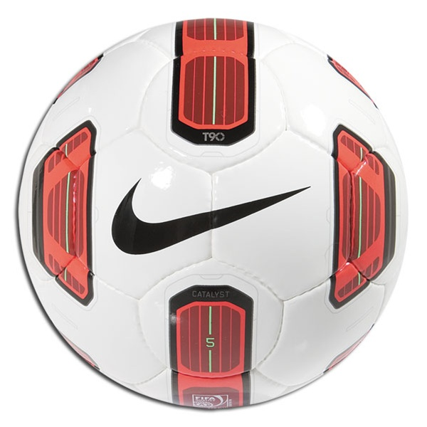 3a35925ebd nike t90 strike soccer ball white red - Santillana ...