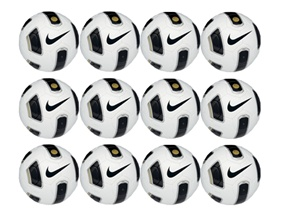 Nike T90 Premier Team Soccer Ball 12 Pack (White/Black/Black)