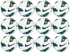 Nike T90 Premier Team Fifa Soccer Ball (White/Blue) 12 Pack