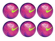 Nike Mercurial Mach Soccer Ball 6 Pack (Purple/Pink/Green)