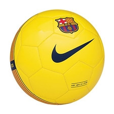 Nike FC Barcelona Supporter's Soccer Ball (Yellow/Red/Blue)