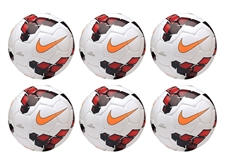 Nike Catalyst 2013 Soccer Ball 6 Pack (White/Red/Total Orange)
