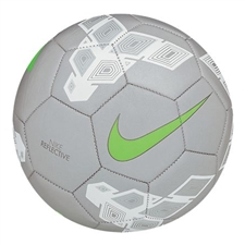Nike Reflective Soccer Ball (Silver/White/Green)