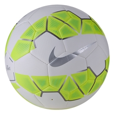 Nike Strike Soccer Ball (White/Volt/Metallic Silver)