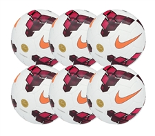 Nike Catalyst Soccer Ball 6 Pack (White/Red/Total Orange)