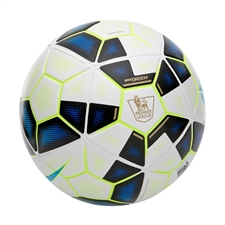 Nike Ordem 2 EPL Soccer Ball (White/Black/Process Blue)