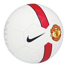Nike Manchester United Supporter's Soccer Ball (White/Red/Black)