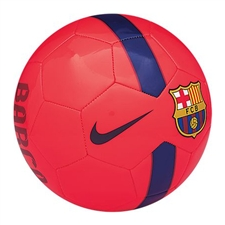 Nike FC Barcelona Supporter's Soccer Ball (Bright Crimson/Navy)