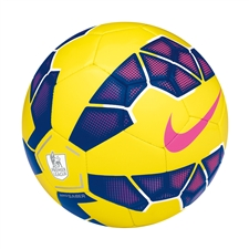 Nike Saber EPL Hi Vis Soccer Ball (Yellow/Purple/Pink)