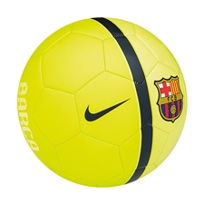 Nike FC Barcelona Supporter's Soccer Ball (Volt/Volt Ice/Loyal Blue)