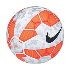 Nike FC247 Rolinho Clube Soccer Ball (White/Hyper Crimson/Laser Orange/Black)