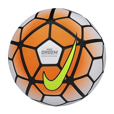 Nike Ordem 3 Soccer Ball (White/Total Orange/Black/Volt)