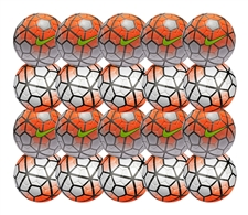 Nike Club Team Soccer Ball 20 Pack (White/Total Orange/Black/Volt)