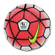 Nike Pitch EPL Soccer Ball (White/Bright Crimson/Black/Volt)