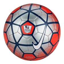 Nike Pitch EPL Soccer Ball (Red/Silver/White)