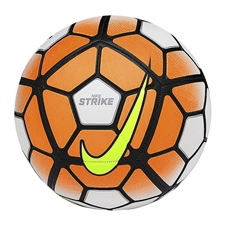 Nike Strike Soccer Ball (White/Total Orange/Black/Volt)