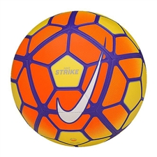 Nike Strike Hi-Vis Soccer Ball (Yellow/Total Orange/Violet/White)