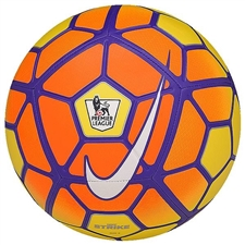 Nike Strike EPL Soccer Ball (Yellow/Total Orange/Violet/White)