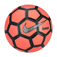 Nike FootballX Menor Futsal Soccer Ball (Bright Mango/Black/Silver)