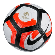 Nike Strike Ciento Copa America Soccer Ball (White/Total Crimson/Black)