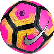 Nike Pitch EPL Soccer Ball (Pink/Volt/Silver)