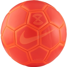 Nike FootballX Menor Futsal Soccer Ball (Bright Crimson/Hyper Orange)