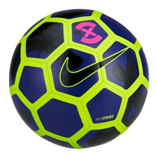 Nike FootballX Strike Soccer Ball (Volt/Deep Royal Blue/Black)