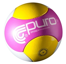 Puro Futebol Costa Beach Pro Series Ball (PinkYellow/White)