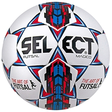 Select Futsal Magico Soccer Ball (White/Blue/Red)