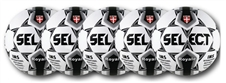 Select Royale Soccer Ball - 5 Pack (Black/White)