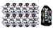 Select Numero 10 Turf Pro Soccer Ball - 10 Pack (White/Black) - Includes Ball Bag
