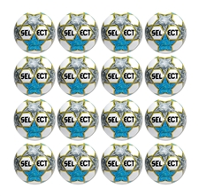 Select Classic Soccer Ball - 16 Pack (White/Blue/Yellow)