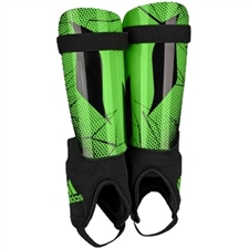 Adidas Youth Messi 10 Soccer Shinguards (Solar Lime/Black)