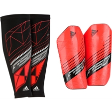 Adidas F50 Pro Lite Soccer Shinguards (Red/Black)