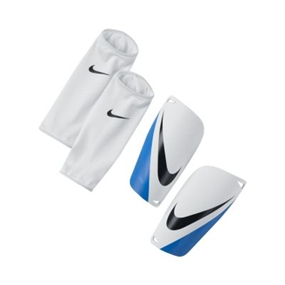 Nike Mercurial Lite Soccer Shinguards (White/Blue)