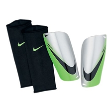 Nike Mercurial Lite Soccer Shinguards (Chrome/Neo Lime/Black)