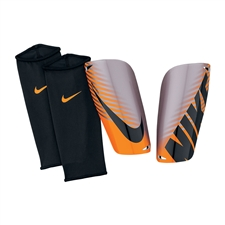 Nike Mercurial Lite Soccer Shinguards (Chrome/Total Orange/Black)