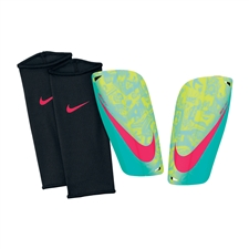 Nike Mercurial Lite Soccer Shinguards (Volt/Retro/Laser Crimson/Black)