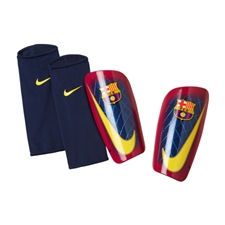 Nike Mercurial Lite FC Barcelona Soccer Shinguards (Team Red/Navy/Yellow)